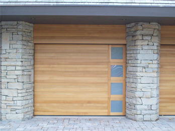 Custom Wood Door - Right-side Windows