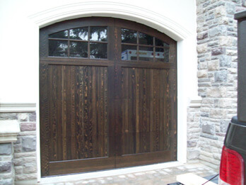 Dark Custom Wood Door - With Arch