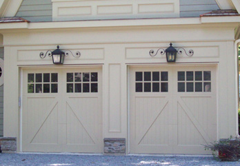 Two Custom Wood Doors