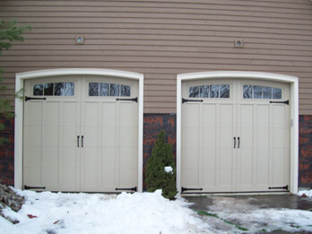 Two Custom Wood Doors - With Small Arch