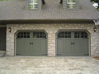 Two Custom Wood Doors - With Windows