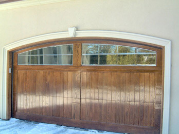Wide Custom Wood Door - With Arch
