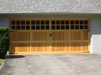 Wide Custom Wood Door - With Windows