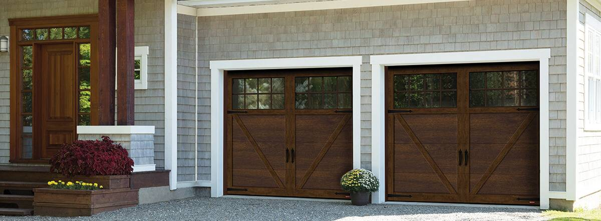 brown garage doors with windows. Princeton P-23, 8\u0027 X 7\u0027, Chocolate Walnut Doors And Overlays Brown Garage With Windows